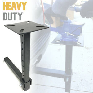 Hitch Mount Vise Plate Holder Mounting Heavy Duty Adjustable Durable Receiver