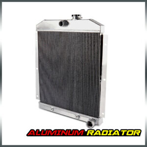 For 1947 1954 Chevy 3100 3600 3800 Truck Pickup L6 Full Aluminum Radiator