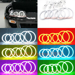 Rgb Led 6 Halo Rings For Toyota Supra 1993 2002 Car Headlight Angel Eye Lamp Drl