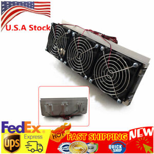 New 3 Chip Refrigeration Kit Thermoelectric Peltier Air Cooling Decive 210w Top