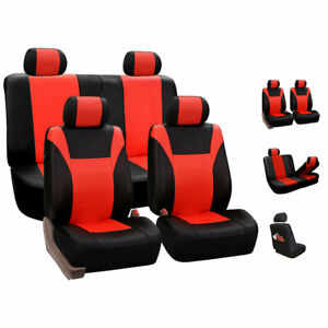Racing Pu Leather Low Back Car Seat Covers Tangerine For Car Suv
