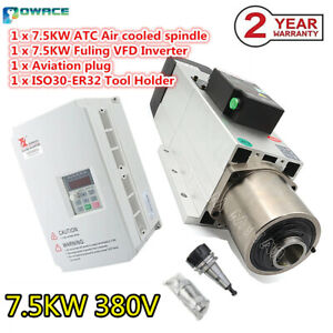 7 5kw 380v Air Cooled Spindle Motor Atc Automatic Tool Change Iso30 W 7 5kw Vfd