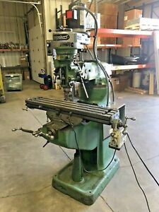 Bridgeport Vertical Mill 1 Hp 240vac 1 phase Or 3 phase Variable Speed
