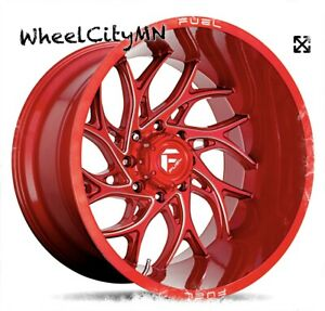 22 X12 Candy Red Milled Fuel D742 Runner Wheels Fits Ford F250 F350 8x170 18