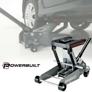 Portable Car Lift 2 Ton Floor Jack Triple 4000lb Hydraulic Automotive Heavy Duty