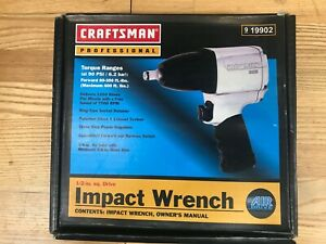 Craftsman Professional Heavy Duty Air Impact Wrench 1 2 Inch Drive 9 19902