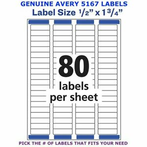 Avery Easy Peel Laser Return Address Labels 1 2 X 1 3 4 5167 Pick Your Own