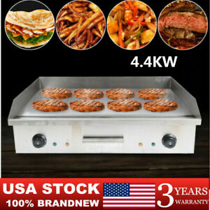 4 4kw Bbq Electric Countertop Flat Griddle Top Restaurant Commercial Grill New