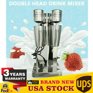 Commercial Double Head Milk Shake Machine 180w 180w Milk Shaker Drink Mixer 110v