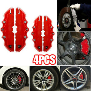 4pcs 3d Car Universal Disc Brake Caliper Covers Front Rear Car Accessories