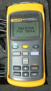 Fluke 1524 Calibration Reference Thermometer W pelican 1450 c42