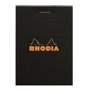 Rhodia r116009 3 X 4 Staplebound Notepad lined Paper W black Cover
