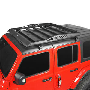 For Jeep Wrangler Jl 2018 2020 Roof Rack Cargo Luggage Carrier W Led Spot Light