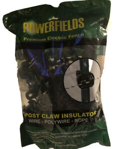 Power Fields Electric Fence Wrap Around T post Claw Insulators Pack Of 25