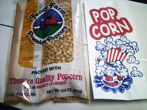 Popcorn Bags Sacks 1 Oz Concession Ballpark 100 Ea Movie Night Party Pack