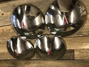 Vintage Factory Oem Pontiac Gto Chrome Poverty Baby Moon Hubcap Hub Cap 485200