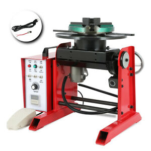 Rotary Welding Positioner Turntable Table Chuck 30kg Horizontal Loading Capacity