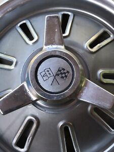 1964 Corvette Hub Cap Wheel Cover Early Frosted Design Original Used Genuine Gm