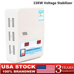 Pro 15kw Automatic Voltage Stabilizer Ac Regulator Power Supply 130v 270v 220v