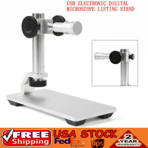 Universal Digital Microscope Base Stand Holder Desktop Support Lift Bracket Usa