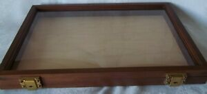 Wood Display Case 12 X 18 X 2 For Arrowheads Knives Collectibles Coins