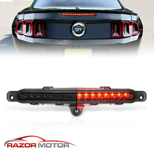For 2010 2014 Ford Mustang Full Led 3rd Third Brake Light Smoke