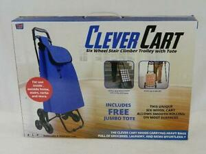 Clever Cart Brand New 6 wheel Stair Climber Trolley With Removable Tote