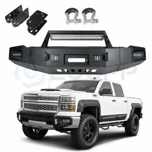 Powder Coated Front Bumper Assembly For Chevy Silverado Gmc Sierra 1500 07 13