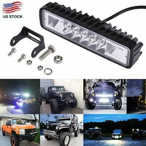 18w 6inch Led Work Light Bar Flood Lamp Offroad Driving Fog 4wd Ute Suv Truck