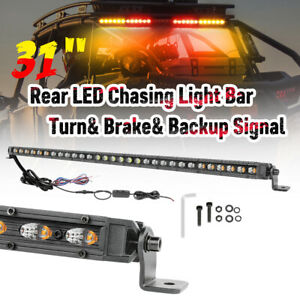 37 Led Emergency Single Row Work Light Bar Rear Chase Warning Strobe Off Road