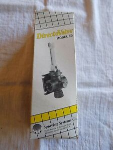 Spraying Systems Co Tee Jet Model 6b Lever Type Manual Control Valve 1 2