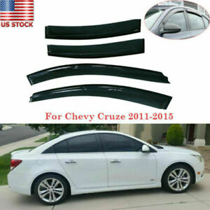 4x Window Vent Visor Rain Guard Fit For Chevy Cruze 2011 2012 2013 2014 2015