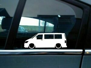 X2 Lowered Car Silhouette Stickers For Volkswagen Vw T6 Multivan Transporter
