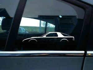 2x Jdm Car Silhouette Stickers For Mazda Rx7 Fc 2nd Gen Classic Rotary