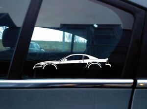2x Car Silhouette Stickers For Ford Mustang Gt 1999 2004 New Edge Sn95