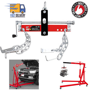 1500 Lbs Load Lift Tool Heavy Duty Engine Hoist Leveler Cherry Picker Shop Crane