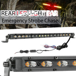20 Rear Led Light Bar Emergency Hazard Warning Strobe Amber Red Truck Atv Slim