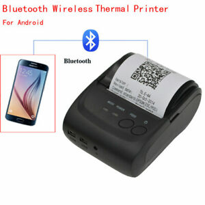 New 58mm Bluetooth Wireless Pocket Thermal Receipt Printer For Android d