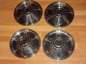 Vintage 1965 Set Of 4 Ford Mustang Hubcaps Wheel Hub Center Caps Covers 13