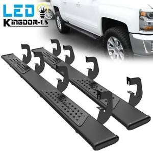 For 07 18 Chevy Silverado 1500 Crew Cab 6 Running Board Nerf Bars Side Step Blk