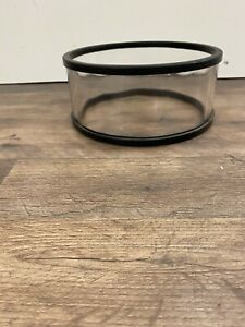 Glass Cylinder For Vacuum 6 1 2 Inside Diameter 3 Tall