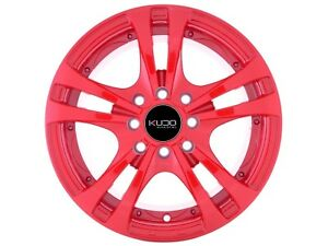 14 Wheels Honda Civic Accord Del So Miata Mini Cooper Corolla Red Rims 4 Lugs
