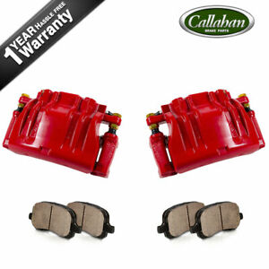 Front Brake Calipers Pads For 300 300c Dodge Magnum Challenger Charger Sxt R t