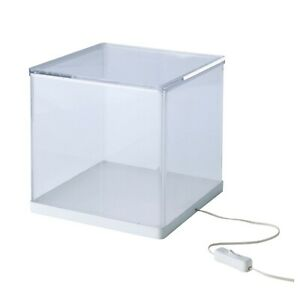 Ikea Synas 9 Led Lighted Clear Acrylic Display Case Box W Lid Dust Proof New