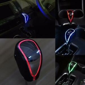 Leather Led Light Usb Touch Activated Auto Manual Gear Shift Knob Shifter Cover