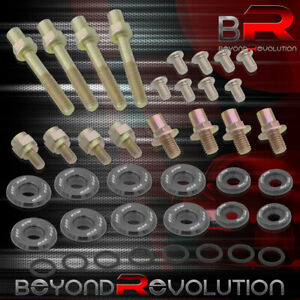 For B16 B18 B series Valve Cover Washer Seal Bolt Nut Kit Racing Aluminum Grey