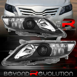 For 2010 2011 Toyota Camry Projector Black Housing Driving Headlights Head Lamp