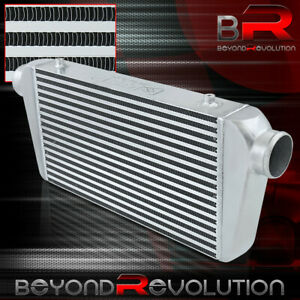 Front Mount Turbo supercharger Intercooler 27 25x11x3 Bar plate 3 Inlet outlet