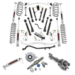 Rough Country 6 In Complete Short Arm Susp Lift Kit Fits Jeep Wrangler Tj 97 06