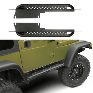 Fit 97 06 Jeep Wrangler Tj Side Step Armor Rock Slider Running Board Nerf Bar